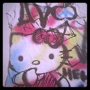 Mightyfine Hello Kitty Graffiti T Shirt